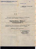 VP16.902 - WIEN 1924 - Vogtlandische Maschinen - Fabrik, A.- G. ¨ OPERN = KINO WIEN I ¨  Paul KEIL - Autriche