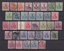 Deutsches Reich - 1920/21 - Michel Nr. 140/153 - Gest. - 60 Euro - Gebraucht