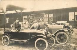 Carte Photo De Voitures Anciennes: Salmson Torpedo Chenard-Walcker - Course Automobile ? Non Situé Circa 1920 -voir état - Voitures De Tourisme