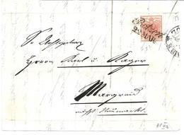 3075u: Österreich- Südtirol 1850, ANK 3 HP III A Auf Briefvorderseite, Botzen - Non Classés