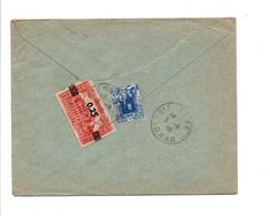 ALGERIE AFFRANCHISSEMENT COMPOSE SUR LETTRE DE ORAN POUR LA FRANCE 1939 - Covers & Documents