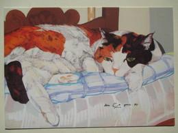 """CHAT Solitaire """" Le Chat De Urs ENGESSER  """"   (Illustration Cat Katze Kat Solo) - Peintures & Tableaux"""