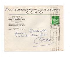 ALGERIE LETTRE DE ORAN POUR LA FRANCE 1961 - Covers & Documents