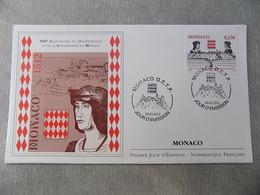FDC MONACO 2012 : 500è Anniversaire De L'indépendance De Monaco - FDC