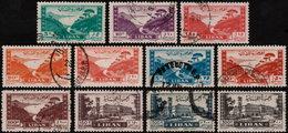 ✔️ Liban Lebanon 1947 - Jounie Grand Serail - Yv. PA 19/28 (o) - Libanon
