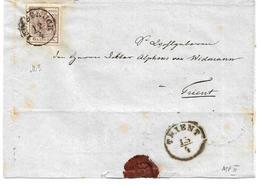 3075q: Österreich 1850, ANK 4 MP III Auf Briefvorderseite - Gebraucht