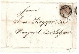 3075p: Österreich 1850, ANK 4 HP III Auf Briefvorderseite Hall N Tyrol - Gebraucht