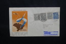 BRÉSIL - Enveloppe 1er Vol Sao Paulo / Tokyo En 1954 , Affranchissement Plaisant - L 54086 - Cartas