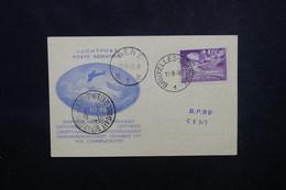 BELGIQUE - Carte De L 'Exposition Aérophilatélique  De Gand En 1946 - Vol Commémoratif Gand / Bruxelles - L 54089 - Cartas
