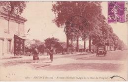 92 - ANTHONY - AVENUE D'ORLEANS - ANGLE DE LA RUE DU PROGRES -  - AUTO ANCIENNE AUTOMOBILE - Antony