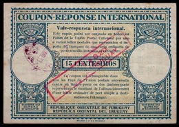 URUGUAY Lo15r  VALOR $ 0.20 R.O.DEL URUGUAY / 15 C. Int. Reply Coupon Reponse Antwortschein IAS IRC  O Xx.xx.33 Error ! - Uruguay