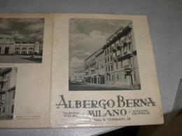 DEPLIANT ALBERGO BERNA  MILANO - Toeristische Brochures