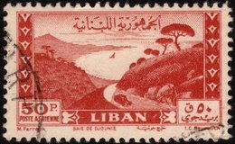 ✔️ Liban Lebanon 1949 - Poste Aerienne Jounie Grand Serail - Yv. PA 54 (o) - Cote 45 Euro - Libanon