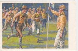 Pfadfinder Beim Appell            (A-184-191005) - Pfadfinder-Bewegung