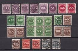 Deutsches Reich - 1923 - Michel Nr. 268/273 - Ungebr./Postfrisch/Gest. - 41 Euro - Gebraucht