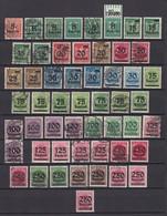 Deutsches Reich - 1923 - Michel Nr. 277/295 - Ungebr./Postfrisch/Gest. - 175 Euro - Germany