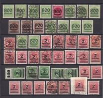 Deutsches Reich - 1923 - Michel Nr. 301/306+308/12 - Ungebr./Postfrisch/Gest. - 290 Euro - Germany
