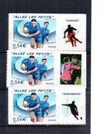 """Sport : Rugby : Lot De 3 Personnalisés """"Allez Les Petits """" - Rugby"""
