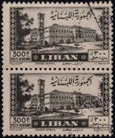 ✔️ Liban Lebanon 1947 - Poste Aerienne Jounie Grand Serail - Yv. PA 28 (o) En Paire - CV 36 Euro - Libanon