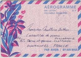 LCH - POLYNESIE FRANCAISE - AEROGRAMME N°1 20F VOYAGE RARE - Aérogrammes