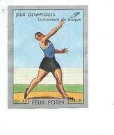 Chromo SPORT J.O Lancement Du Disque Athlétisme Pub: Felix Potin Ma Collection 1930s TB 52 X 40 Mm RARE 3 Scans - Félix Potin
