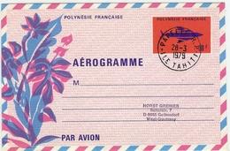 LCH - POLYNESIE FRANCAISE - AEROGRAMME N°3  OBLITERE - Aérogrammes