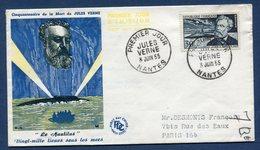 France FDC - Premier Jour - Le Nautilus - Jules Verne - 1955 - FDC
