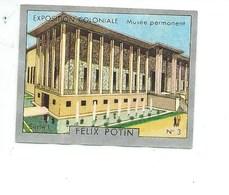 Chromo Exposition Coloniale 1931 Musée Permanent Pub: Felix Potin Ma Collection 1930s TB 52 X 40 Mm RARE 3 Scans - Félix Potin