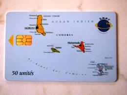 COMORES   MAP - Comores