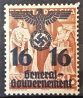 GENERALGOUVERNEMENT 1940 - MNH - Mi 34 - 16g - Ocupación 1938 – 45