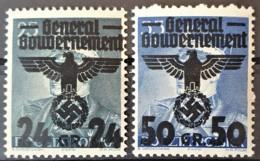 GENERALGOUVERNEMENT 1940 - MNH - Mi 14, 15 - 24g 50g - Ocupación 1938 – 45