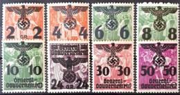 GENERALGOUVERNEMENT 1940 - MNH - Mi 17-24 - Ocupación 1938 – 45