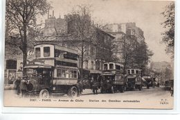 Paris : Autobus De L'avenue De Clichy - Transport Urbain En Surface