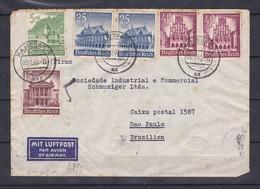 Deutsches Reich - 1940 - Brief - Mit Luftpost Nach Brasillien - Rücks. Verschlusstr. Obercommando Der Wehrmacht Geöffnet - Covers & Documents