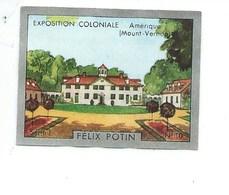 Chromo Exposition Coloniale 1931 AMERIQUE Pub: Felix Potin Ma Collection 1930s TB 52 X 40 Mm RARE 3 Scans - Félix Potin