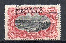Congo - Cob 31L - Locale L6 Second état De La Surcharge -  OBL LEOPOLDVILLE - RRR - KA06 - Congo Belga