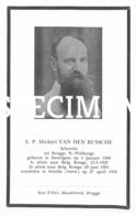 E.P. Michiel Van Den Bussche - Scheutist - Desselgem - Schilde - Brugge - Waregem