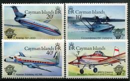 Kaimaninseln Mi# 518-21 Postfrisch MNH - Airplanes - Kaimaninseln