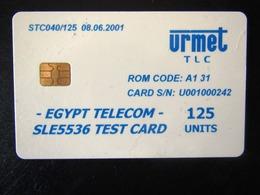 TEST   URMET   125 UNITS EGYPT - Egypt