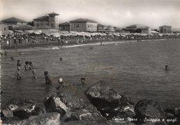CT-03399- CECINA MARE ( LIVORNO ) SPIAGGIA E SCOGLI  VIAGGIATA PRIMI ANNI 1950 - Italia
