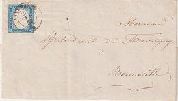"""SARDAIGNE : N° 12 . DE """" ANNEMASSE """" . POUR BONNEVILLE . AB . 1857 . - Sardaigne"""