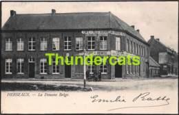 CPA HERSEAUX LA DOUANE BELGE CAFE RESTAURANT AU CHATEAU D'OR - Mouscron - Moeskroen