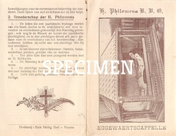 Bidprentje Heilige Philomena - Eggewaartskapelle - Veurne