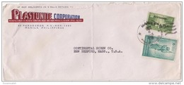 PHS14516 Philippines 1946 P.T.P.O. Cover Franking Independence Issue & Victory Commonwealth Addressed USA - Philippines