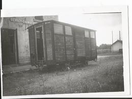 Photo Format  - Thème Transport - Wagon à Gevrey Chambertin - 21 - Côte D'Or - Treni