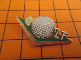 715c Rouge Pin's Pins / Belle Qualité & Rare / THEME SPORTS : BALLE DE GOLF Par DEMONS & MERVEILLES - Golf