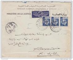 DZS14203 Algérie Algeria 1965 Official Airmail P.T.P.O. Censored Cover Nice Franking  W/ Slogan To Egypt - Algeria (1962-...)