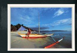 CPM Photo :  PHILIPPINES - BARQUE SUR LA PLAGE DE SICOGON - Cartes Postales