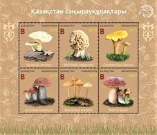 Kazakhstan  2019  Mushrooms Of Kazakhstan   Flora  S/S   MNH - Kazakhstan