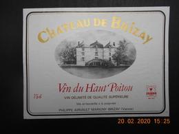1 Etiquette NEUVE De Vin  Du   HAUT POITOU - Sin Clasificación